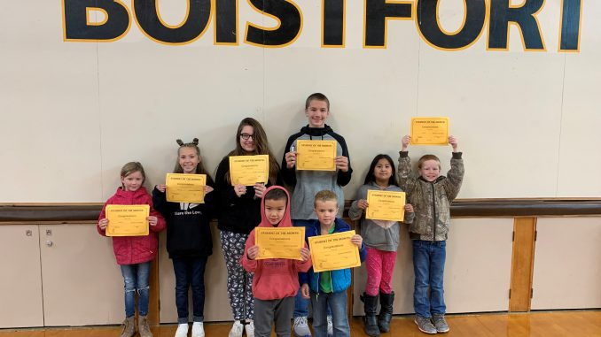 Students who earned Respect awards in September 2019